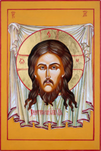 Christus Acheiropoietos, (Mandylion) 30x20 cm, Eigelbtempera, Vergoldung, Holz - verkauft - Ikonenmalerein Olga Liashenko