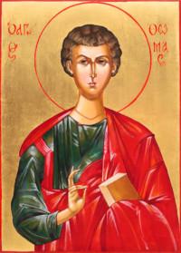 Heiliger Apostel Thomas 35x25 cm, Eigelbtempera, Vergoldung, Holz - verkauft - Ikonenmalerein Olga Liashenko