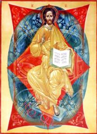 Christus Pantokrator 50x40 cm, Eigelbtempera, Holz - nicht verkäuflich - Ikonenmalerein Olga Liashenko