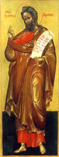 Heiliger Abraham 45x25 cm, Eigelbtempera, Massivholz - nicht verkäuflich - Ikonenmalerein Olga Liashenko