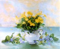 Ein Strauß wilde Blumen 50х60 cm, Öl, Leinwand - zu kaufen - Malerein Olga Liashenko