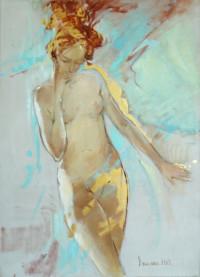 Sonare 70x50 cm, Öl, Vergoldung, Leinwand - nicht verkäuflich - Malerein Olga Liashenko