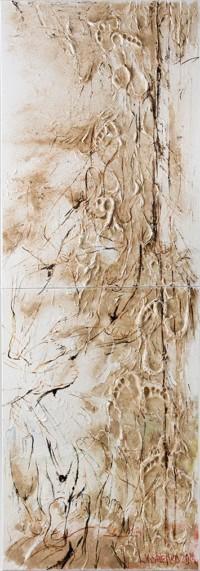 Lebensbaum 200x70 cm, Autorentechnik, Leinwand - zu kaufen - Malerein Olga Liashenko