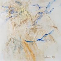 Die, die fliegen können 120x120 cm, Druck hinter Acrylglas - zu kaufen - Malerein Olga Liashenko