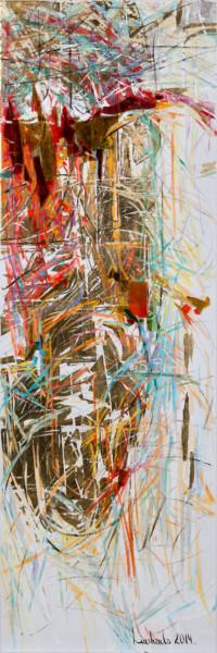 Mandorla_V01 150x50 cm, Collage, Leinwand - zu kaufen - Malerein Olga Liashenko