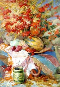 Ukrainischer Herbst 102х76 cm, Öl, Leinwand - zu kaufen - Malerein Olga Liashenko