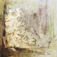 Gold zu Staub 80x80 cm, Öl, Goldimitation, Leinwand - zu kaufen - Malerein Olga Liashenko