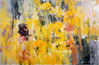 Das Gelb 60x90 cm, Öl, Goldimitation, Leinwand - zu kaufen - Malerein Olga Liashenko