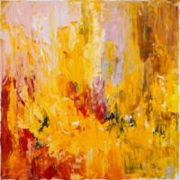 Die Tulpen 40x40 cm, Öl, Leinwand - zu kaufen - Malerein Olga Liashenko