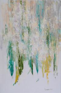 Der Flieder blüht wieder 90x60 cm, Öl, Leinwand - zu kaufen - Malerein Olga Liashenko