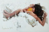 Die Kindheit 80x120 cm, Druck hinter Acrylglas - zu kaufen - Malerein Olga Liashenko