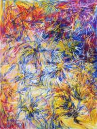 Viola tricolor 160x120 cm, Diptychon, Öl, Leinwand - verkauft - Malerein Olga Liashenko