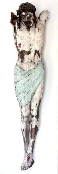 Der Tragende 180x60 cm, Mixed Media, Acrylglas - verkauft - Malerein Olga Liashenko