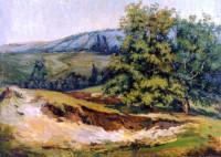 Die Herbstlandschaft von Charkiw 50x70 cm, Öl, Leinwand - verkauft - Malerein Olga Liashenko