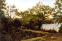 Der Weg in den Park 43х65 cm, Öl, Leinwand - verkauft - Malerein Olga Liashenko