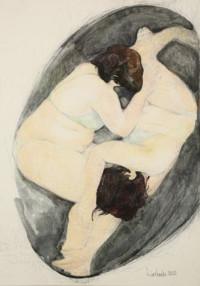 unendlich.Frau 100x70 cm, Mixed Media, Leinwand - zu kaufen - Malerein Olga Liashenko