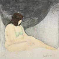 einfach.Frau 100x100 cm, Mixed Media, Leinwand - verkauft - Malerein Olga Liashenko