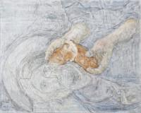 Emmaus 80x100 cm, Mixed Media, Leinwand - verkauft - Malerein Olga Liashenko