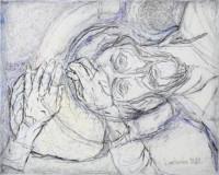 bleib bei uns 80x100 cm, Mixed Media, Leinwand - zu kaufen - Malerein Olga Liashenko