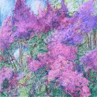 Immerwieder.Frühling 100x100 cm, Mixed Media, Leinwand - zu kaufen - Malerein Olga Liashenko