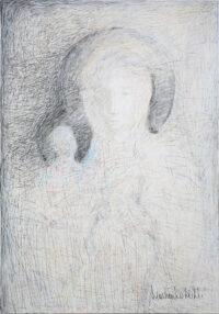 Weiße Madonna_V03 100x70cm, Mixed Media, Leinwand - zu kaufen - Malerein Olga Liashenko