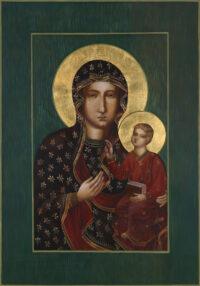 Schwarze Madonna von Tschenstochau 100x70 cm, Eigelbtempera, Vergoldung, Massivholz - zu kaufen - Ikonenmalerein Olga Liashenko